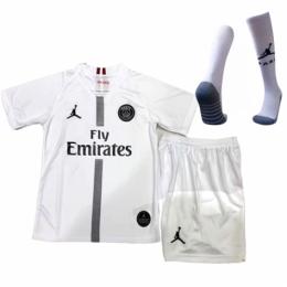 18-19 PSG JORDAN 3rd Away White Children's Jersey Kit(Shirt+Short+Socks)