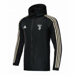 18-19 Juventus Black Hoody Woven Windrunner