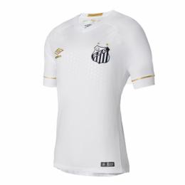 18-19 Santos Home White Soccer Jersey Shirt