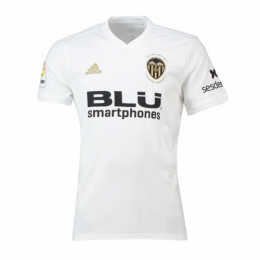 17d690d38 18-19 Valencia Home White Soccer Jersey Shirt