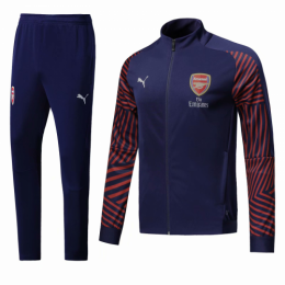 18-19 Arsenal Navy&Red High Neck Collar Training Kit(Jacket+Trousers)