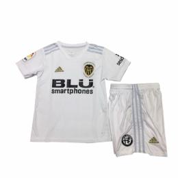 18-19 Valencia Home White Children's Jersey Kit(Shirt+Short)