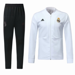 18-19 Real Madrid White Training Kit(Jacket+Trouser)