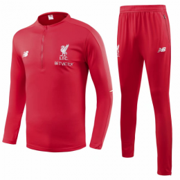 18-19 Liverpool Red Training Kit( Zipper Sweat Top Shirt+Trouser)