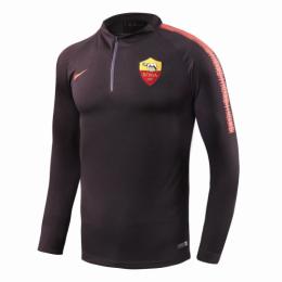 18-19 Roma Black Zipper Sweat Top Shirt