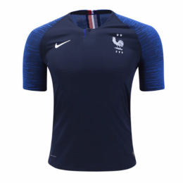 2018 World Cup France Home Shirt Two Stars Soccer Jersey Shirt(Player Version)