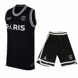 PSG×JORDAN Black Basketball Jersey Shirt Kit(Shirt+Short)