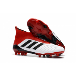 e78f2fc8faf AD Predator 18+ without latchet FG boots-Red White