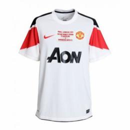 10-11 Manchester United Away White Retro Jerseys Shirt
