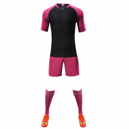 Customize Team Pink Player Version Soccer Jerseys Whole Kit(Shirt+Short+Socks)