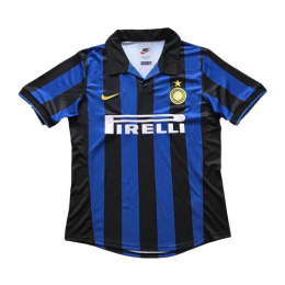 98-99 Inter Milan Home Blue&Black Retro Jerseys Shirt