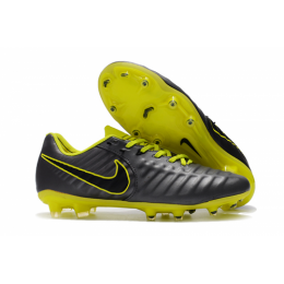 NK Tiempo Legend VII  FG Soccer Cleats-Black&Green