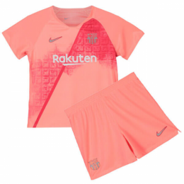 18-19 Barcelona Third Away Pink Children's Jersey Kit(Shirt+Short)