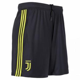 18-19 Juventus Third Away Black Soccer Jersey Short