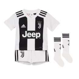 18-19 Juventus Home Children's Jersey Whole Kit(Shirt+Short+Socks)