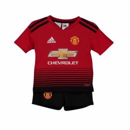 bad57602e940 18-19 Manchester United Home Children's Jersey Kit(Shirt+Short)