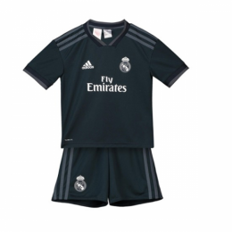 18-19 Real Madrid Away Dark Navy Children's Jersey Kit(Shirt+Short)