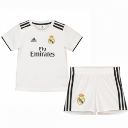 18-19 Real Madrid Home Children's Jersey Kit(Shirt+Short)