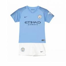 18-19 Manchester City Home Children's Jersey Kit(Shirt+Short)