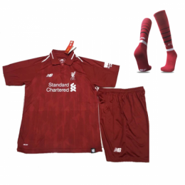 18-19 Liverpool Home Children's Jersey Whole Kit(Shirt+Short+Socks)