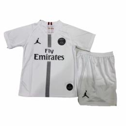 18-19 PSG JORDAN 3rd Away White Children's Jersey Kit(Shirt+Short)