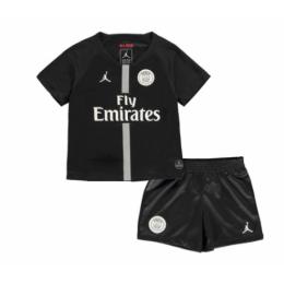 18-19 PSG JORDAN 3rd Away Black Children's Jersey Kit(Shirt+Short)