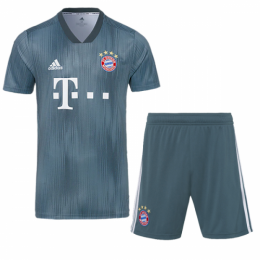 18-19 Bayern Munich Third Away Navy Jersey Kit(Shirt+Short)