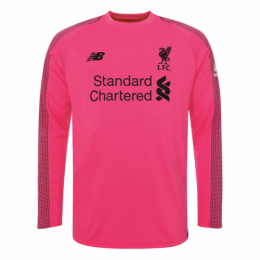 18-19 Liverpool Goalkeeper Pink Long Sleeve Jersey Shirt