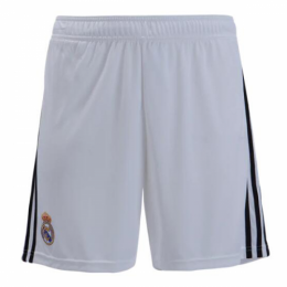 18-19 Real Madrid Home White Soccer Jersey Short