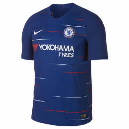 18-19 Chelsea Home Blue Soccer Jersey Shirt(Player Version)