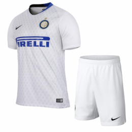 18-19 Inter Milan Away White Soccer Jersey Kit(Shirt+Short)