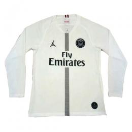 18-19 PSG JORDAN 3rd Away White Long Sleeve Soccer Jersey Shirt