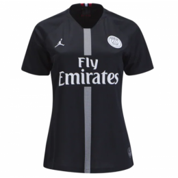 18-19 PSG JORDAN 3rd Away Black Women's Soccer Jersey Shirt