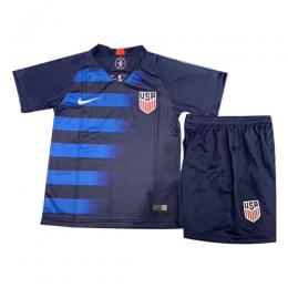 2018 USA Away Blue Children's Jerseys Kit(Shirt+Short)