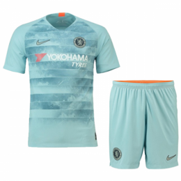 18-19 Chelsea Third Away Gray Soccer Soccer Jersey Kit(Shirt+Short)