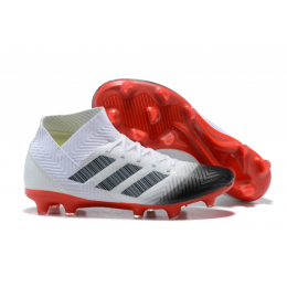 AD X NEMEZIZ 18.1 FG Soccer Cleats-White&Red