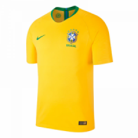 2018 World Cup Brazil Authentic Home Yellow soccer Jersey Shirt