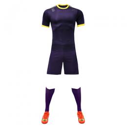Customize Team Purple&Yellow Player Version Soccer Jerseys Whole Kit(Shirt+Short+Socks)