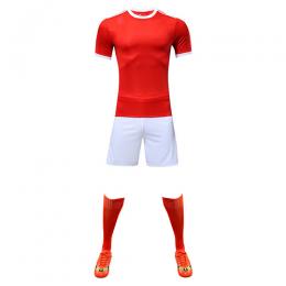 Customize Team Red&White Player Version Soccer Jerseys Whole Kit(Shirt+Short+Socks)