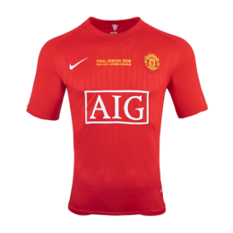 07-08 Manchester United Champion League Home Retro Jersey Shirt