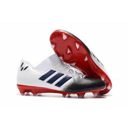 AD X Nemeziz Messi Tango 18.1 FG Soccer Cleats-White&Red