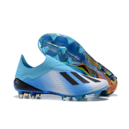 AD X 18+ FG Soccer Cleats-Blue&White