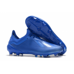 AD X 18.1 FG Soccer Cleats-All Blue