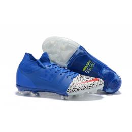 NK Mercurial Greenspeed 360 FG Soccer Cleats-Blue&White