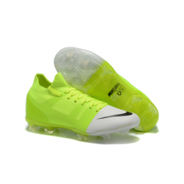 NK Mercurial Greenspeed 360 FG Soccer Cleats-Green&White