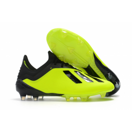 AD X 18.1 FG Soccer Cleats-Black&Green
