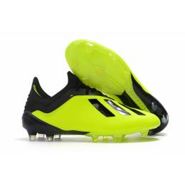 AD X 18.1 FG Soccer Cleats-Black&Green