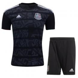 2019 Mexico Gold Cup Home Black Soccer Jerseys Kit(Shirt+Short)
