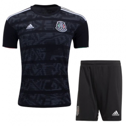 2019 Mexico Gold Cup Home Black Soccer Jerseys Kit(Shirt+Short)