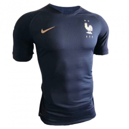 2019 World Cup France Home Two Stars Soccer Jerseys Shirt(Player Version)